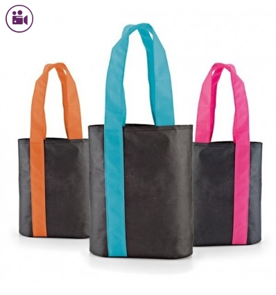 Bolsa Compra con Asas de Color para Publicidad Promocional
