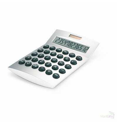 Calculadora Solar de Plástico Promocional Color Plata Mate