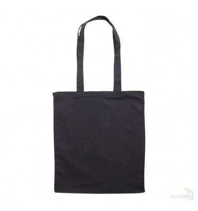 Bolsa de Compras de Algodón Publicitaria Color Negro