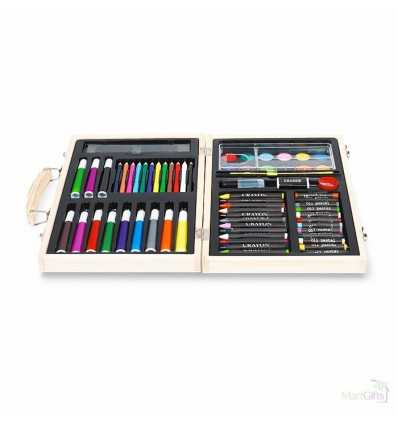 Juego de Pinturas y Lápices Promocional Color Madera