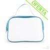 Neceser Translúcido con Cremallera Promocional Color Azul Royal