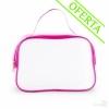 Neceser Translúcido con Cremallera Merchandising Color Rosa