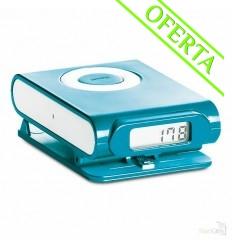 Podómetro en ABS y Clip Color Plata