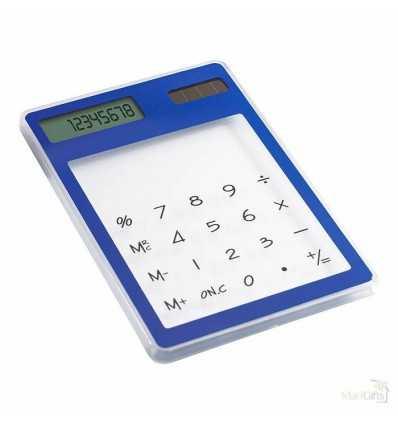 Calculadora Solar Pantalla Táctil Personalizada Color Azul