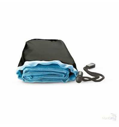 Toalla de Deporte con Bolsa Color Azul