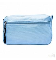 Neceser con dos Cremalleras Publicitario Color Azul Celeste