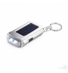 Llavero con Linterna LED Solar Barato Color Plata Mate