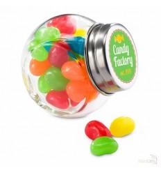 Bote de Cristal con Caramelos de Colores Publicidad
