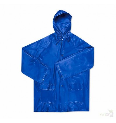 Impermeable Plegable de EVA Color Azul