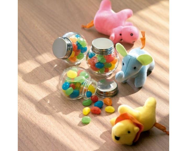 Bote de cristal con caramelos tapa met lica reclamista - Bote cristal con tapa ...