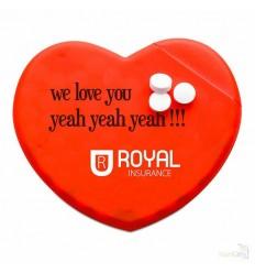 Caja Corazón Dispensador de Caramelos Publicidad
