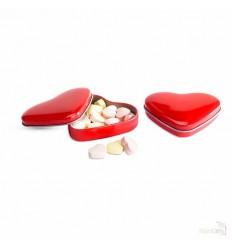 Caja de Aluminio Corazón con Caramelos Publicidad