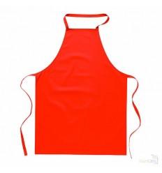 Delantal de Algodón en Colores Llamativos Color Rojo