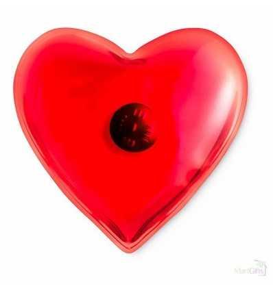 Calienta Manos en Forma de Corazón Color Rojo