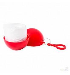 Poncho de Lluvia en Bola de Plástico Publicidad