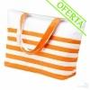 Bolsa de Playa Bicolor Marinera Color Naranja