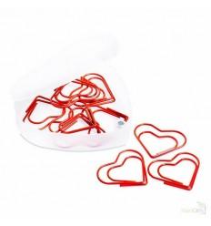 Clips Corazón en Caja Transparente Publicidad