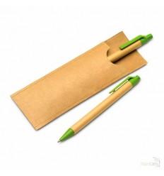 Set Bolígrafo y Lápiz de Cartón Reciclado Publicidad