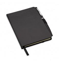 Libreta A6 con Tapas Duras y Bolígrafo Promocional Color Negro