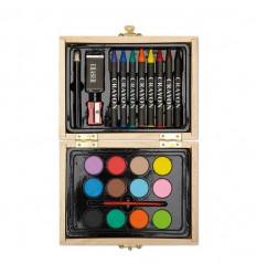 Set de Pinturas en Caja de Madera Promocionales Color Madera