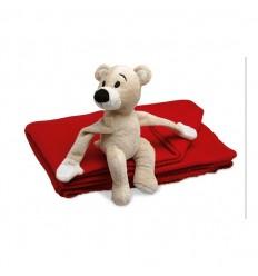 Manta Polar Personalizada para Niños con Osito
