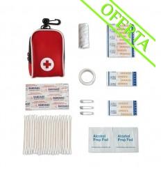 Kit de Primeros Auxilios Promocional en Estuche - Color Rojo