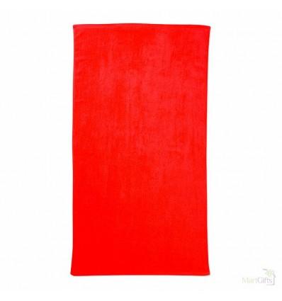 Toalla con Logotipo de Algodón para Playa - Color Rojo