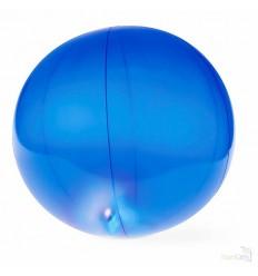 Pelota Publicitaria Para Playa Transparende y con Luz Led - Color Azul