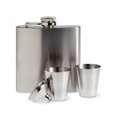 Petaca de Metal para Publicidad con Vasos de Chupito