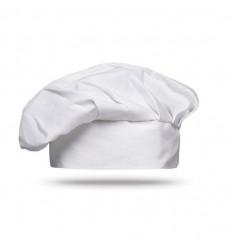 Gorro de Cocinero-Chef para Publicidad con Cierre de Velcro - Color Blanco