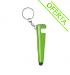 Llavero y Soporte para Móvil con Puntero Publicidad Color Verde Lima