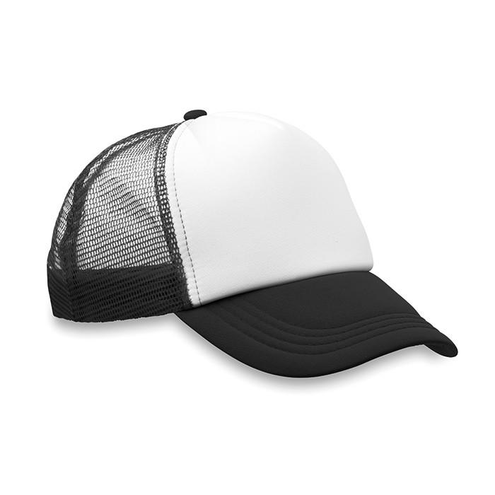 Gorra de Béisbol de Poliéster con 5 Paneles para Publicidad Color Negro 4ff9e586ea5