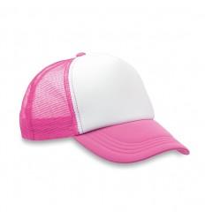 Gorra de Béisbol de Poliéster con 5 Paneles para Campañas Publicitarias Color Fúcsia Fluorescente