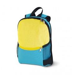 Mochila con Bolsillo y Cremallera para Regalo de Empresa Color Azul Claro