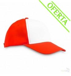 Gorra de Béisbol de Poliéster 5 Paneles Publicitaria Color Rojo