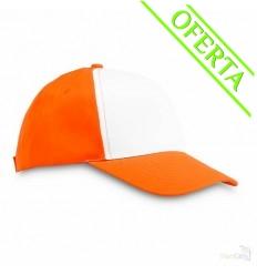 Gorra de Béisbol de Poliéster 5 Paneles Promocional Color Naranja