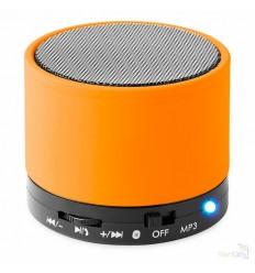 Altavoz Bluetooth Circular para Publicidad con Acabado en Caucho - Color Naranja