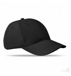 Gorra de Béisbol de Algodón con 6 Paneles Publicitaria Color Negro