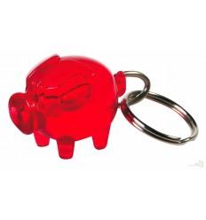 Llavero Original Cerdo para Publicidad Color Rojo Transparente