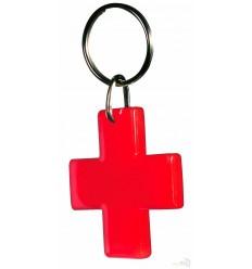 Llavero Promocional Cruz Roja Económico Color Rojo