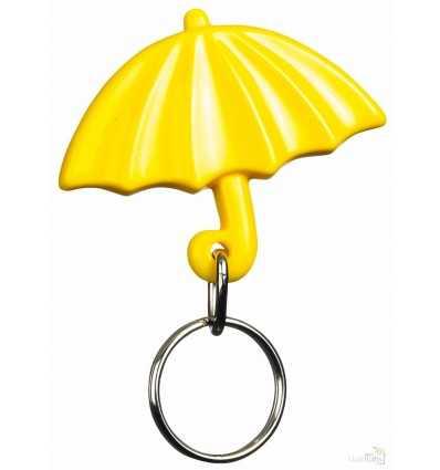 Llavero Publicitario Paraguas para Regalo Promocional Color Amarillo