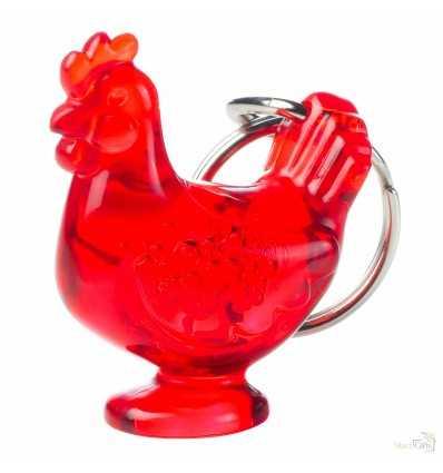 Llavero Personalizado Gallina Kylie Económico Color Rojo Transparente