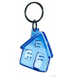 Llavero Personalizado Casa Promocional Color Azul Transparente