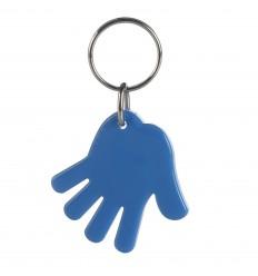 Llavero Publicitario Mano Promocional Color Azul