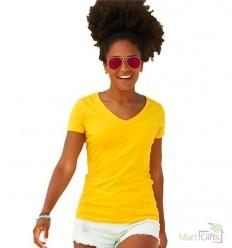 Camiseta Cuello V de Mujer Promocional