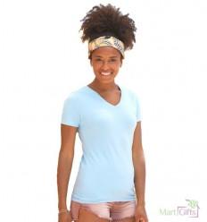 Camiseta Entallada Cuello V de Mujer Publicitaria