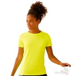 Camiseta Promocional Técnica de Mujer con Publicidad