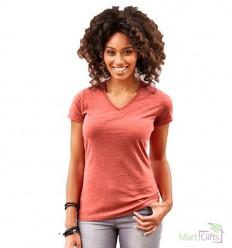 Camiseta HD de Mujer Cuello V para Campañas Publicitarias