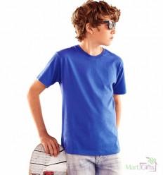Camiseta Entallada Manga Corta para Niño con Logo Personalizado