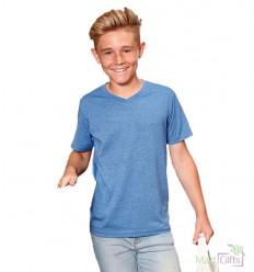 Camiseta HD Cuello V para Niño con Logo Promocional